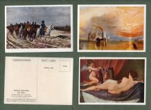 Cigarette cards Famous Paintings 1936,Mona Lisa, Gainsborough,Constable